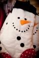 Quilted whimsical snowman stocking $22.00
